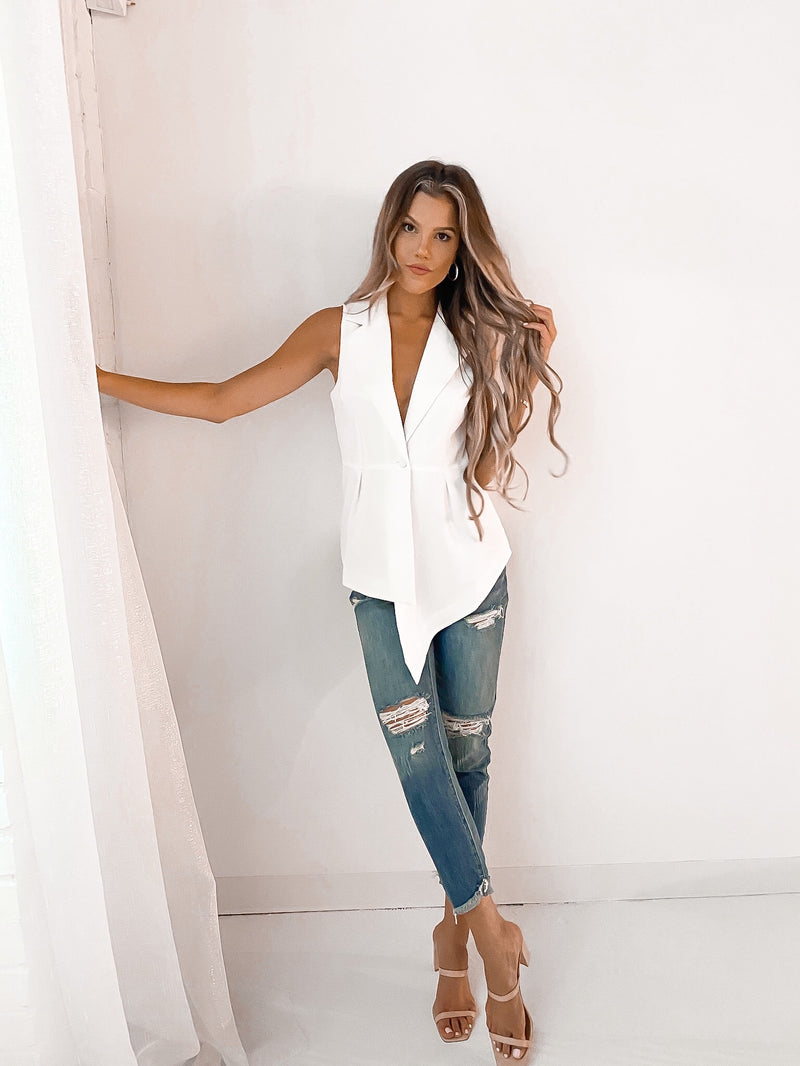 Medium Light Distressed Jeans