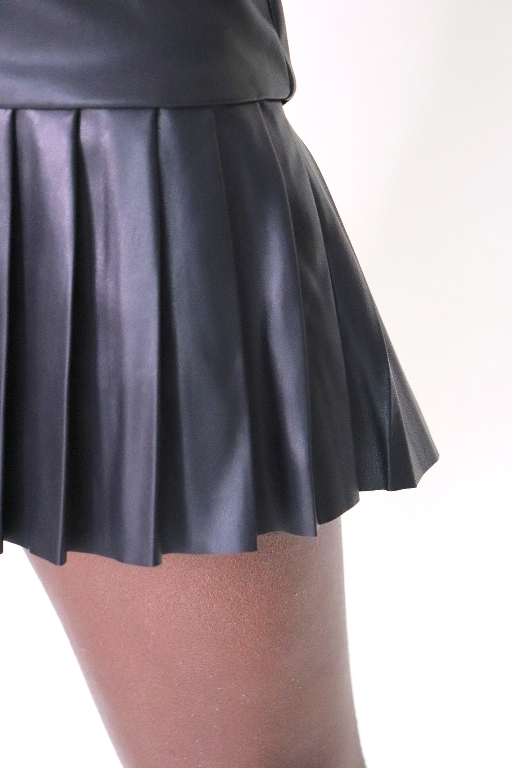 Tiered Pleated Skirt