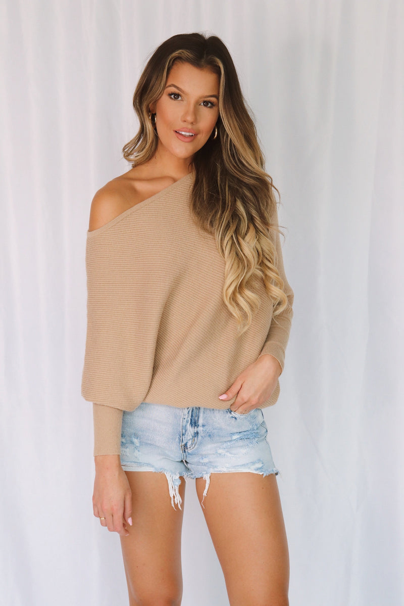 Off Shoulder Tunic Sweater
