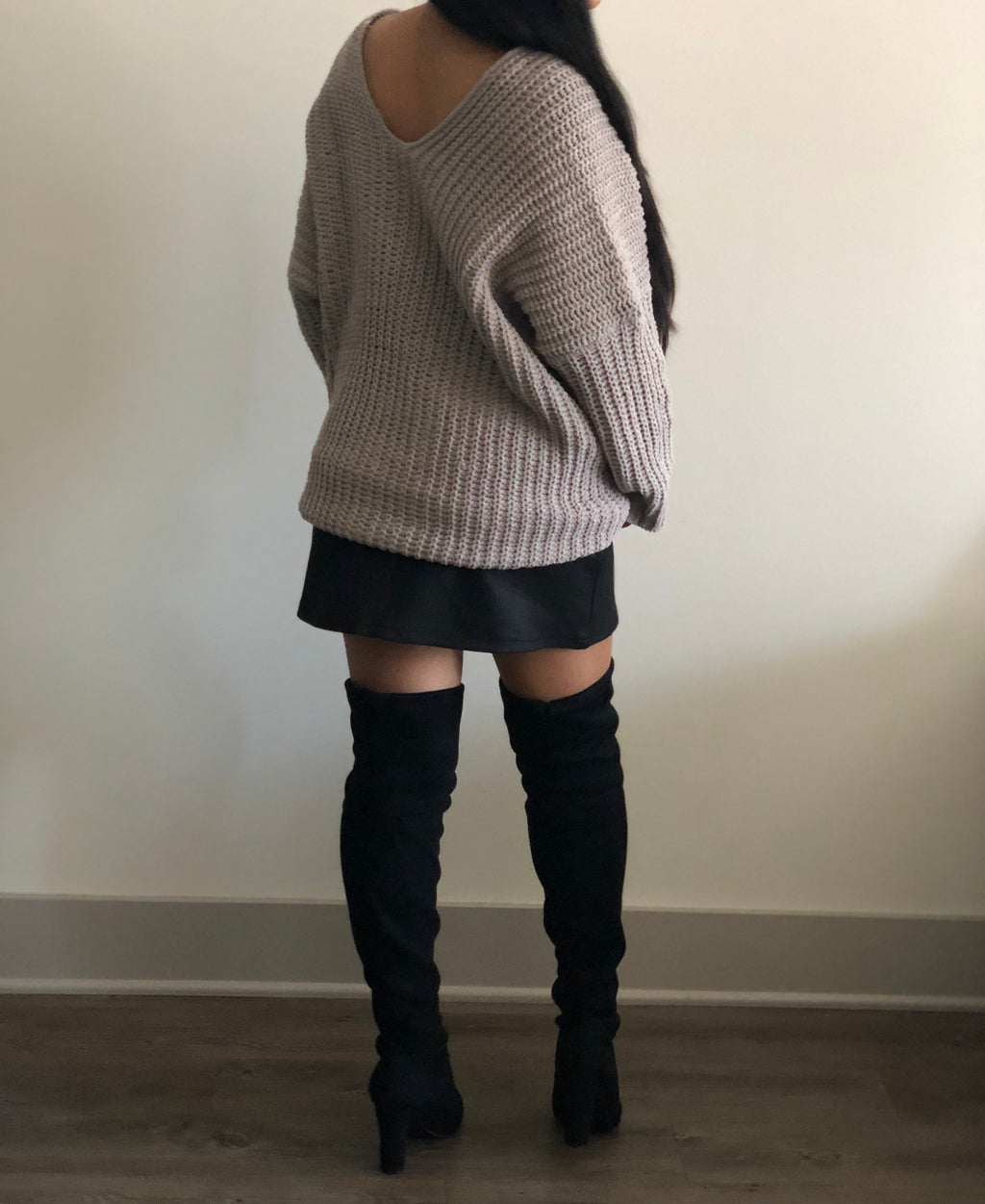 FINAL SALE - Oversized Cable Knit Sweater