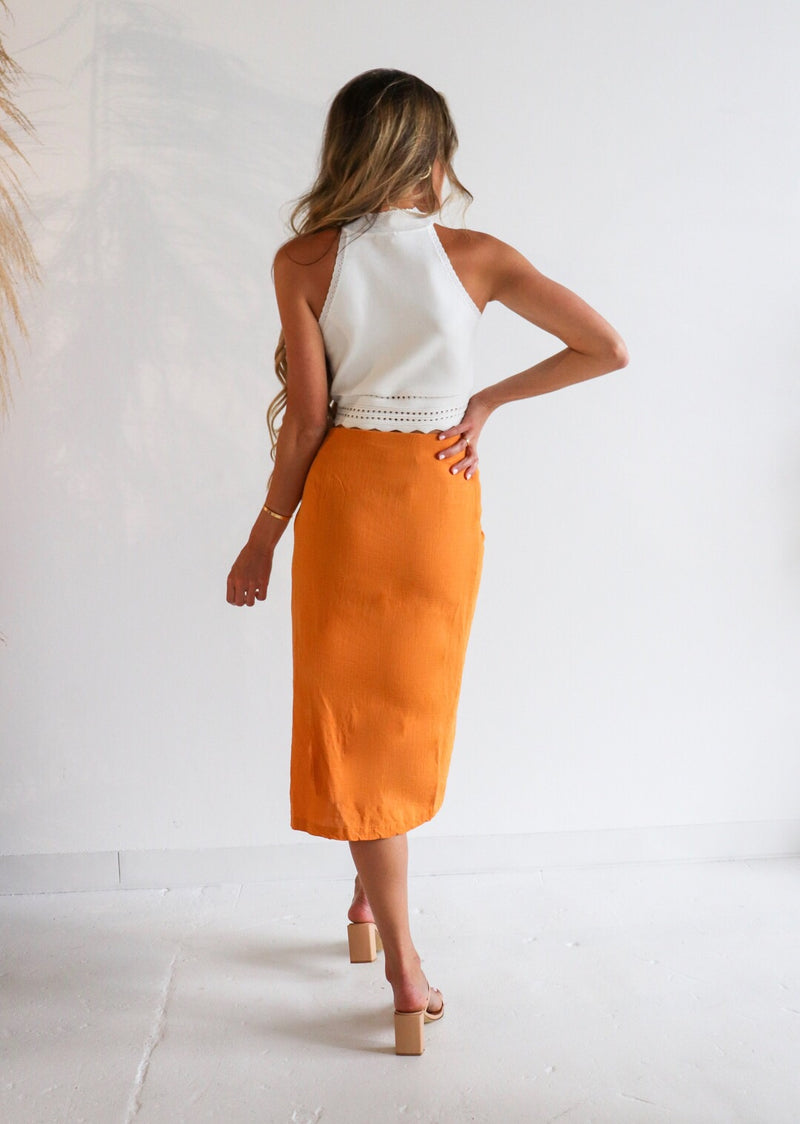 Nova Hi Low Twist Skirt