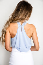 Sky Draped Front Top