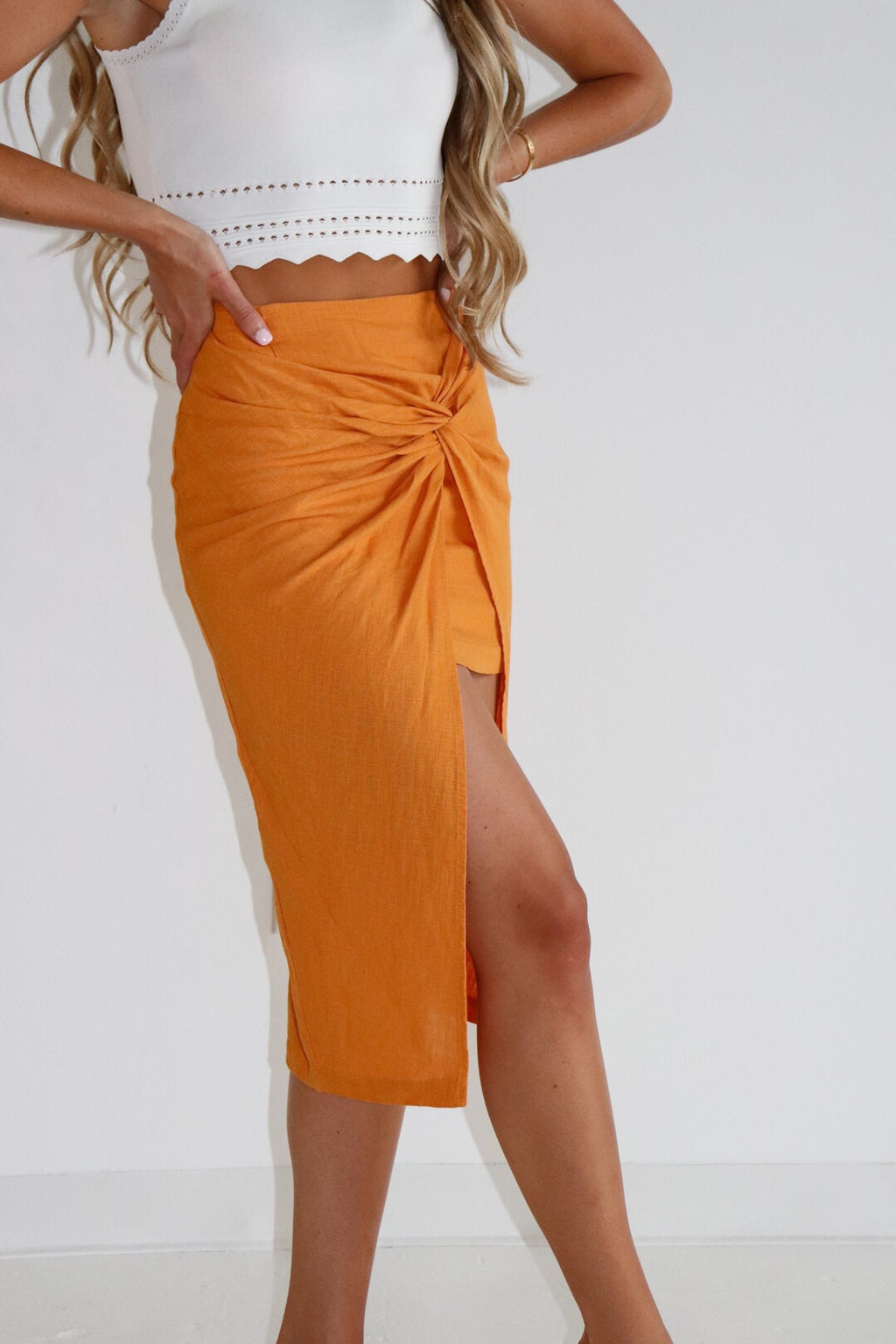 RESTOCKED - Nova Hi Low Twist Skirt