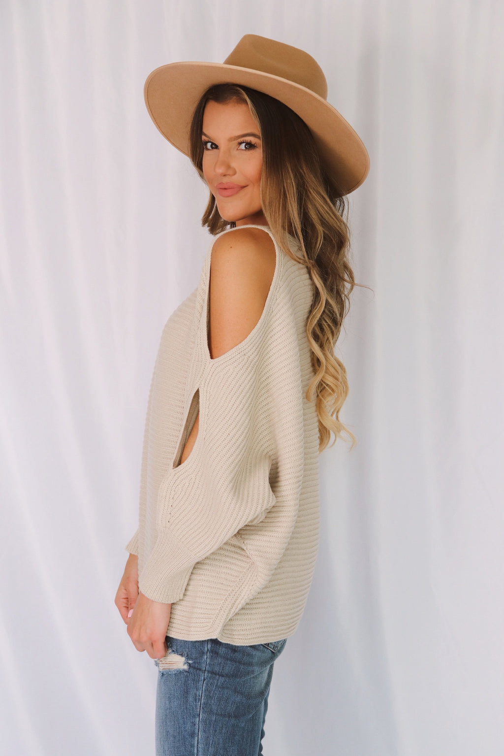 Beverly Open Arm Sweater