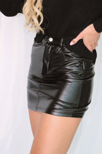 Rumi Vegan Leather Mini Skirt