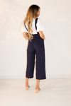 Linen Square Neck Overall Jumpsuit