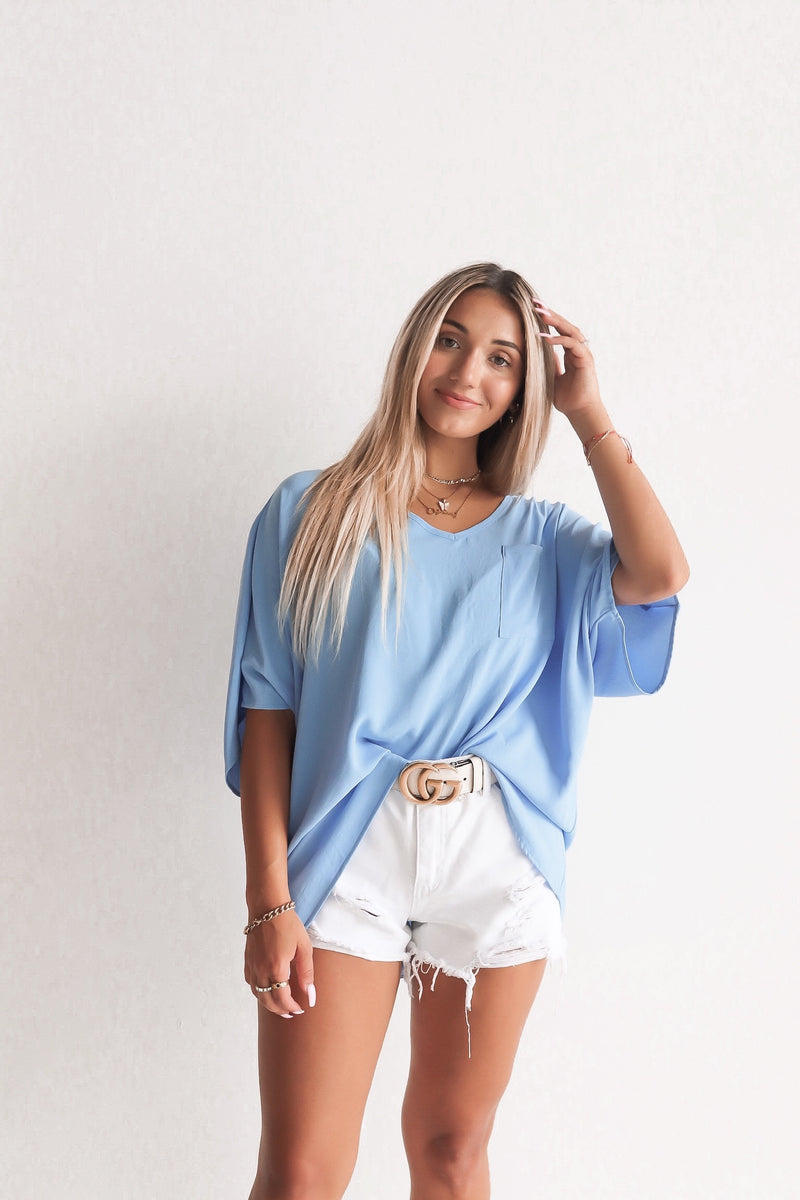 Madison Oversized Pocket Tee