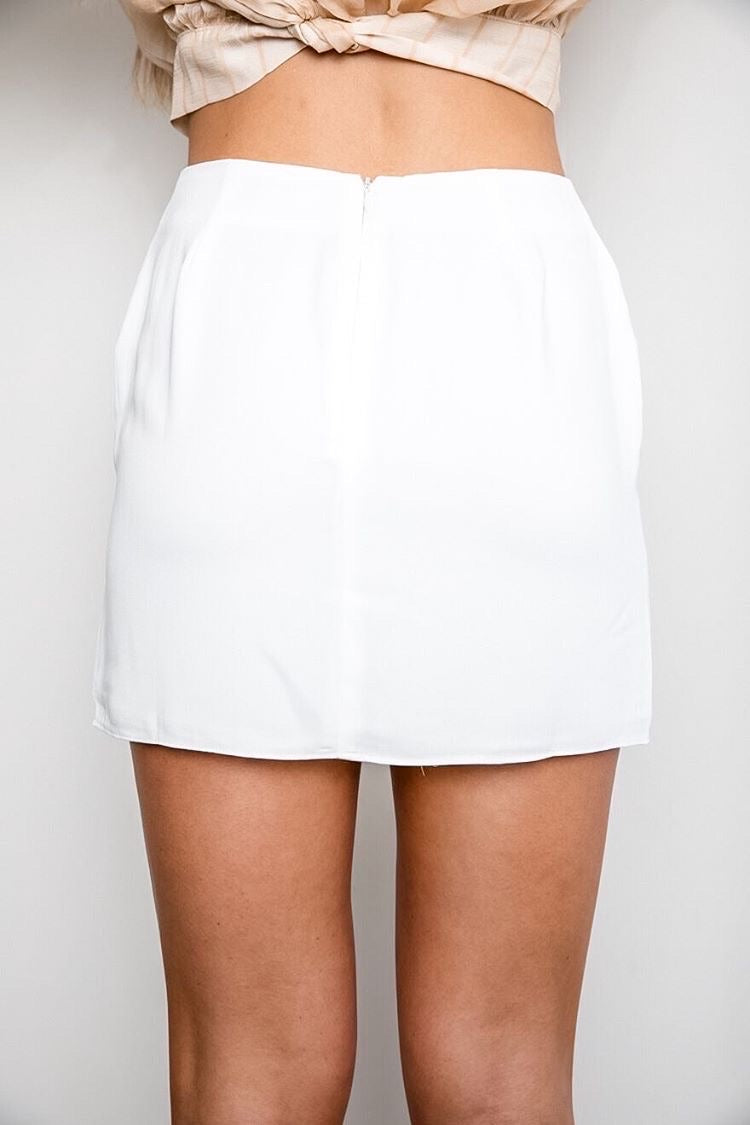 Luna Button Mini Skirt