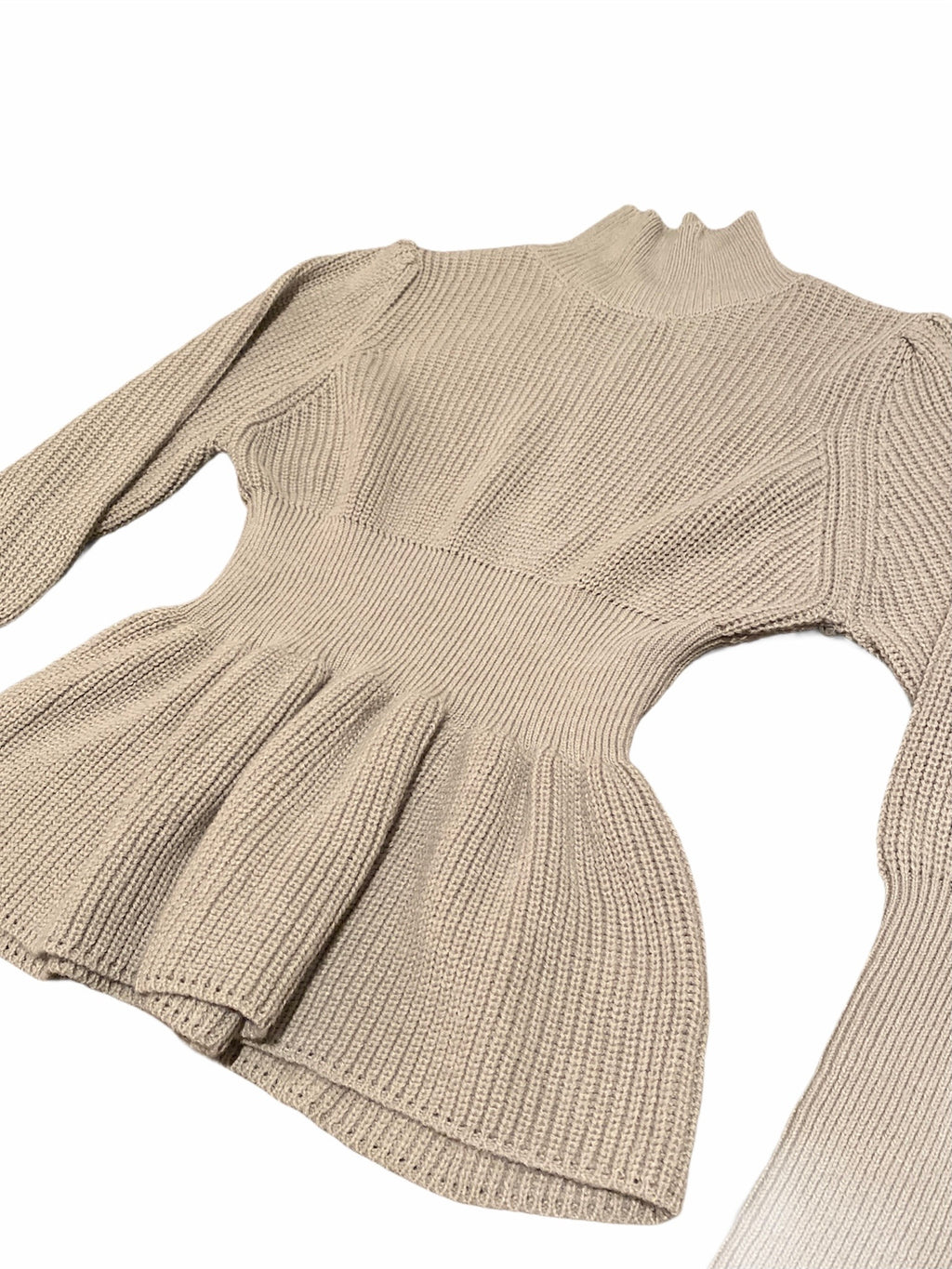 Mock Neck Peplum Sweater