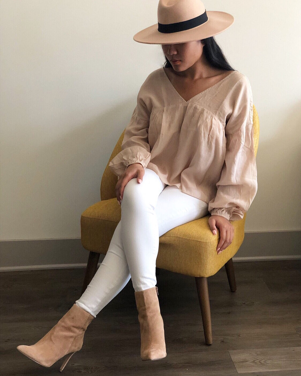 Babydoll V-Neck Long Sleeve