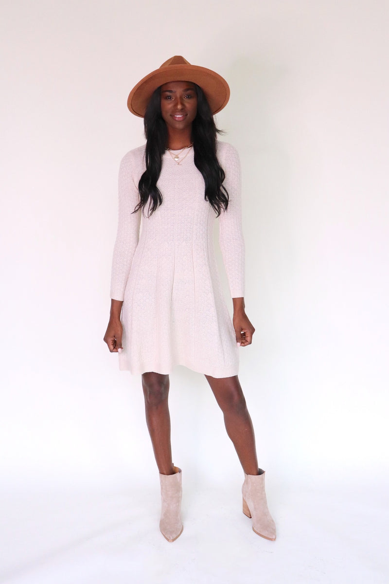 Evelyn Fit & Flare Knit Dress