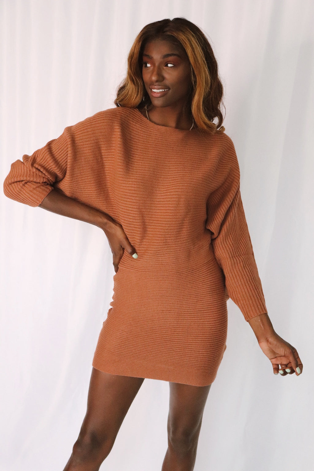 Amber Dolman Sweater Dress