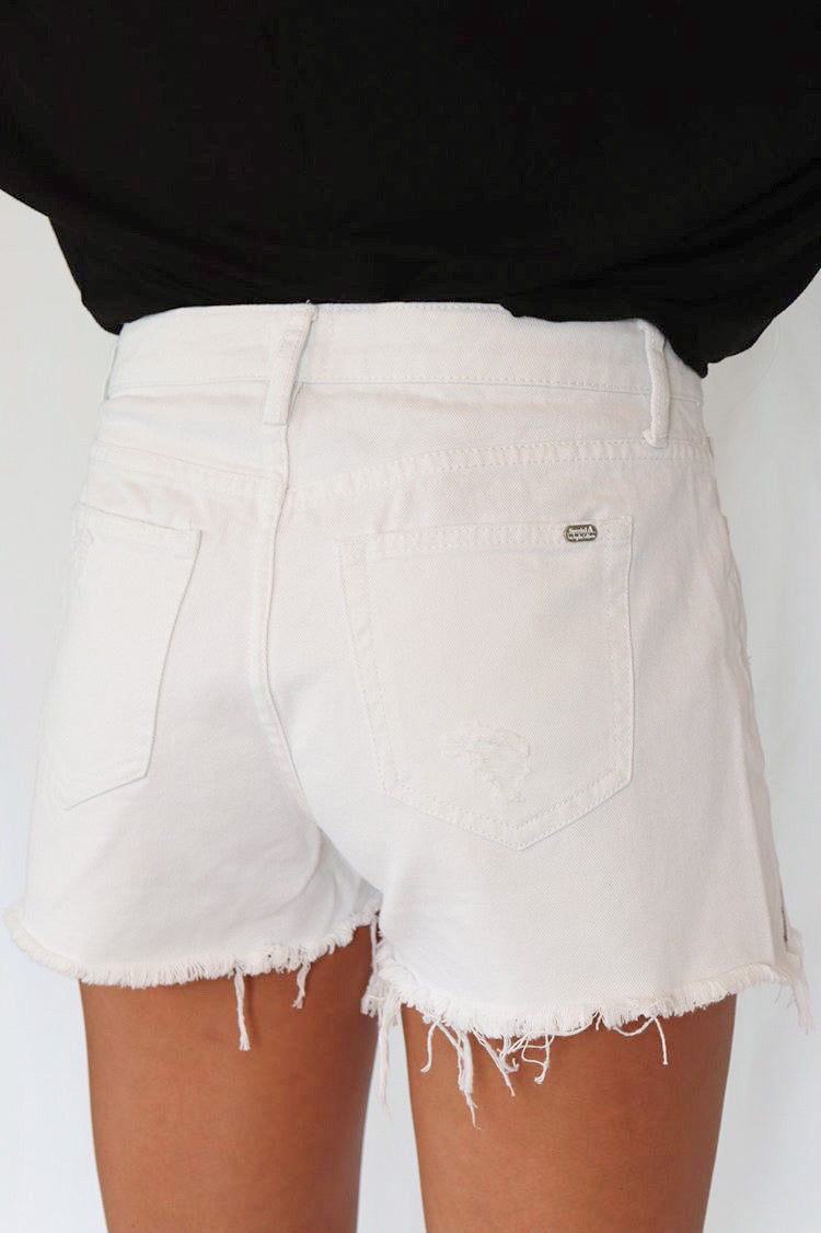 Kendall Distressed High Rise Shorts