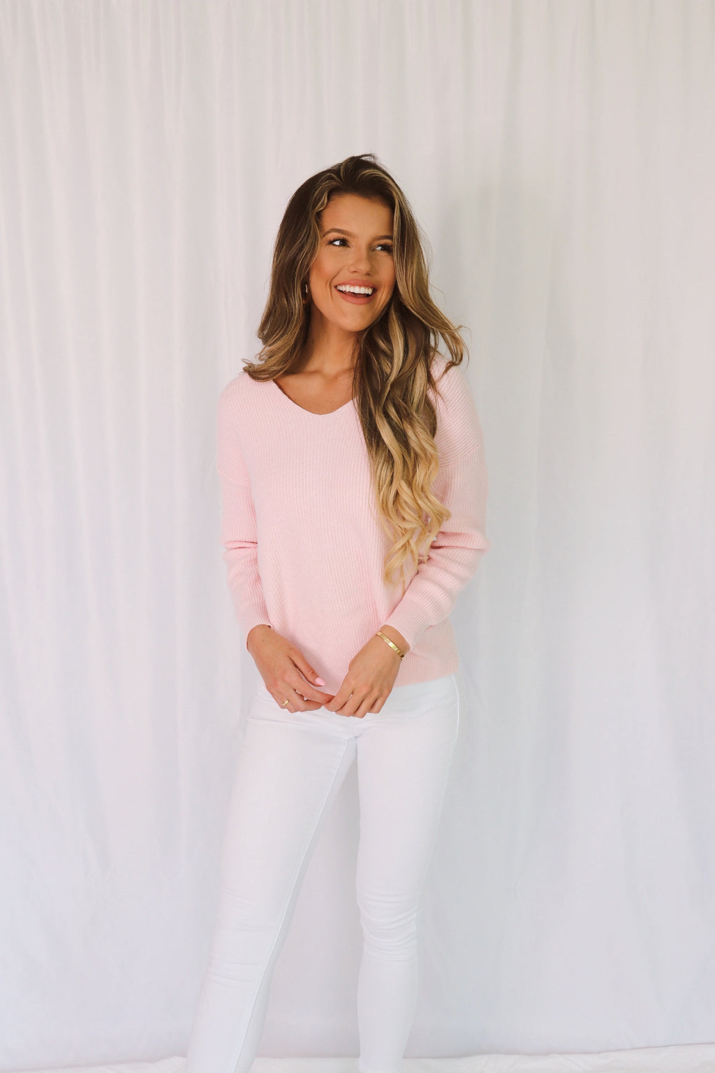 Lilly Twist Back Sweater