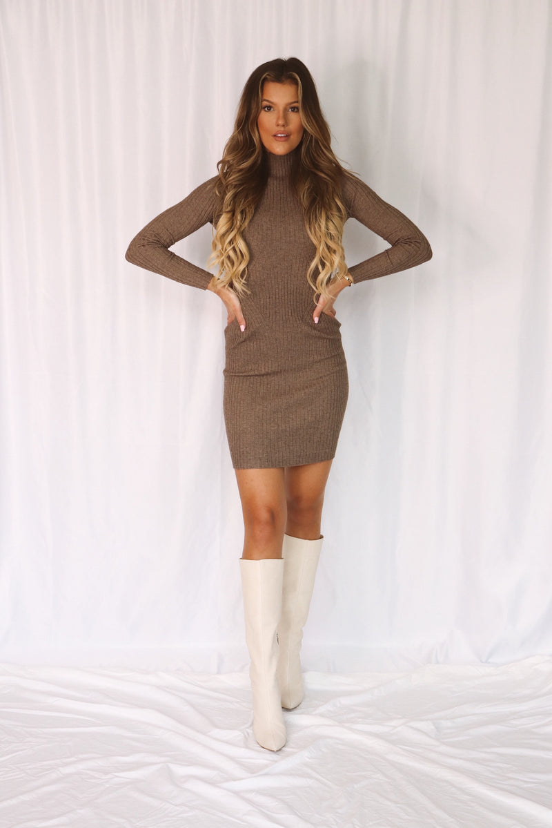 Madrid Mock Neck Sweater Dress