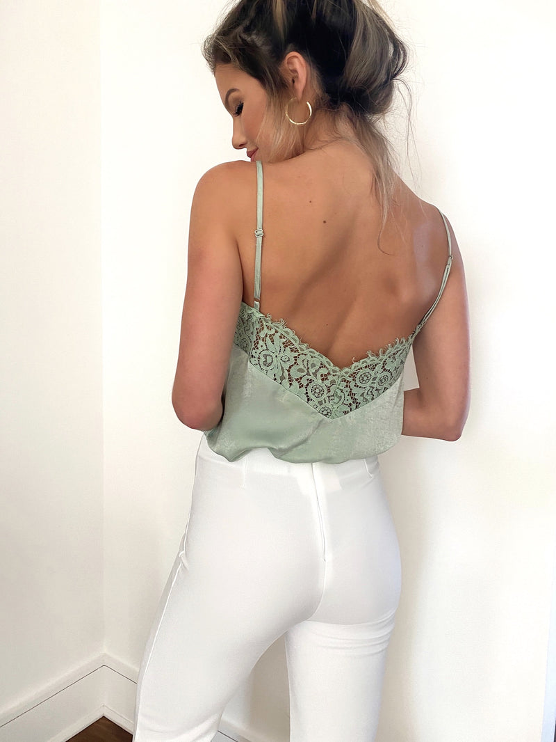 RESTOCKED - Lani Cami Lace Top