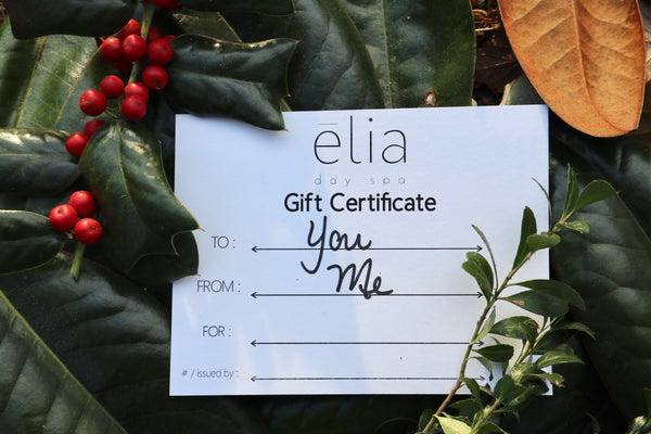 Gift Certificate for Services at elia day spa