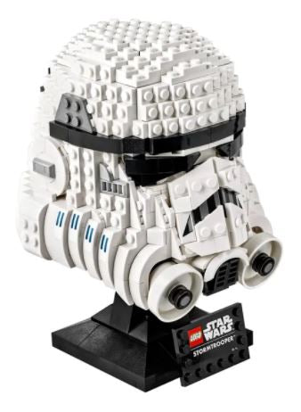 un casque de stormtrooper star wars en lego pour adulte