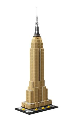 empire state building de la gamme lego architecture pour adulte
