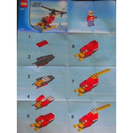 LEGO Fire Helicopter polybag - 30019 - City - La Briqueterie