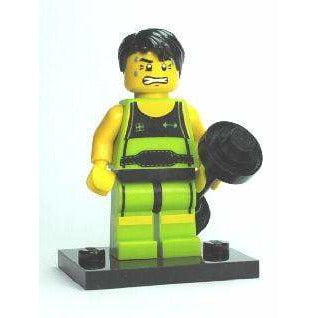 LEGO col02 Weightlifter, Series 2