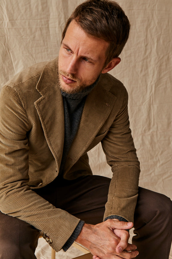 Beige Corduroy Cotton & Cashmere Blazer from Loro Piana