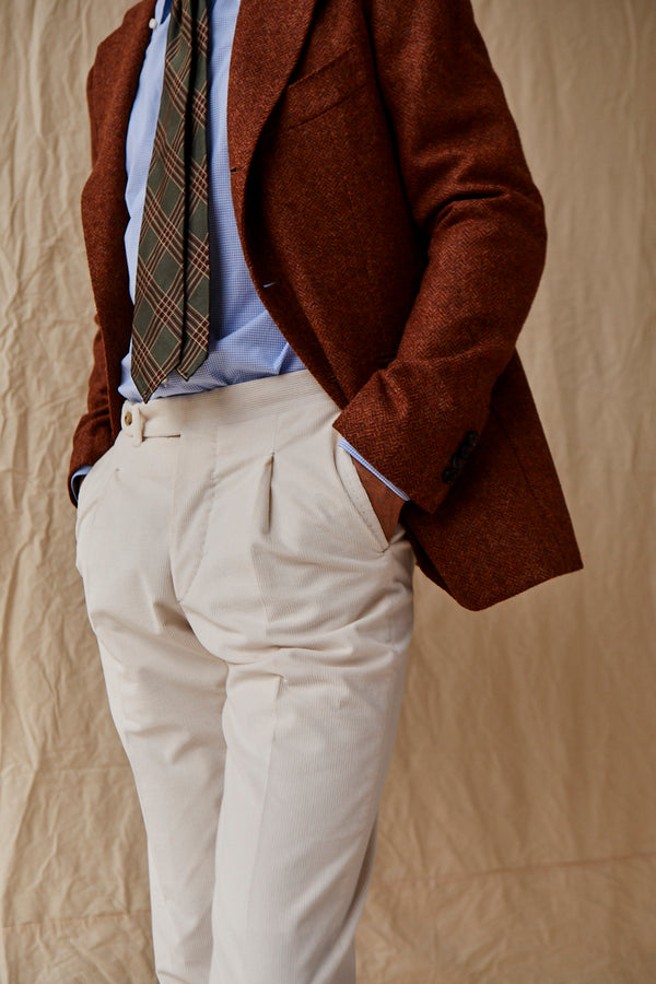 Burnt Orange Wool Blazer from Abraham Moon