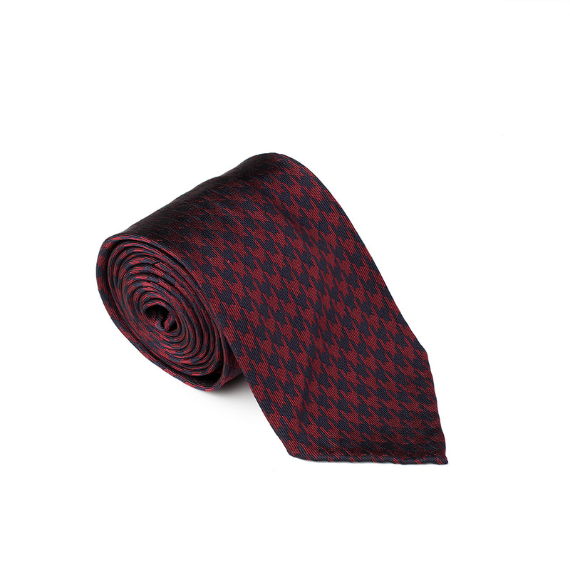 Patterned Red Blue Tie