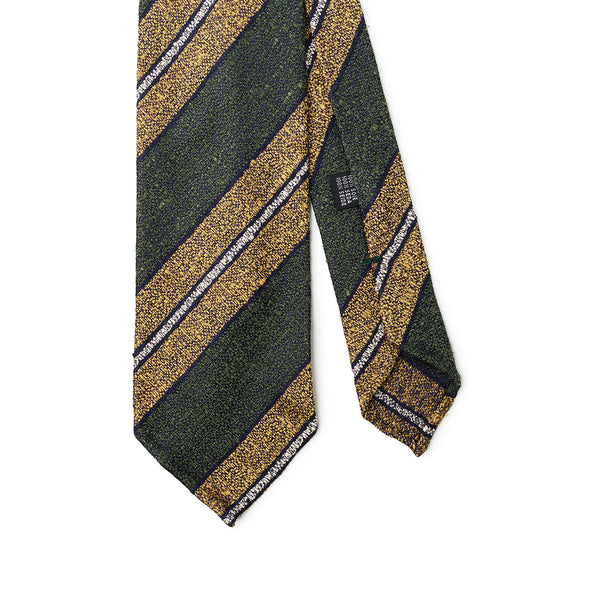 Striped Green Yellow Tie