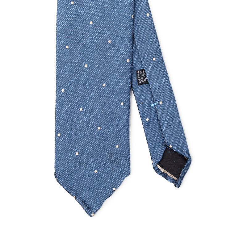 Dotted Light Blue Beige Tie