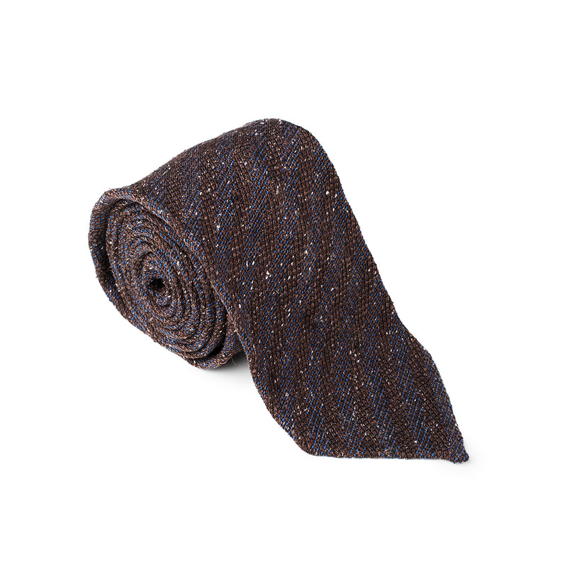 Striped Blue Brown Tie