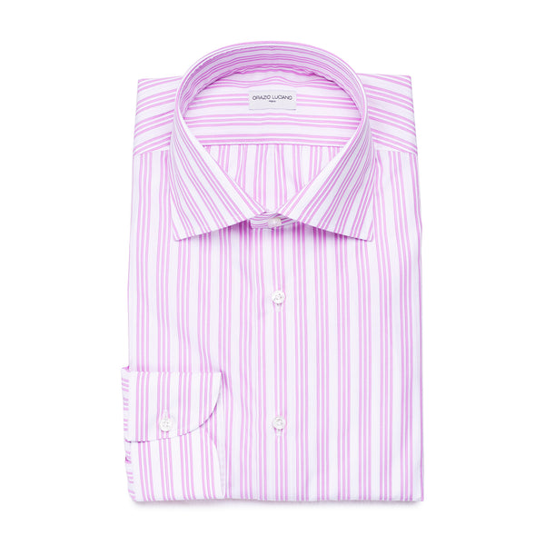 White & Pink Striped Shirt