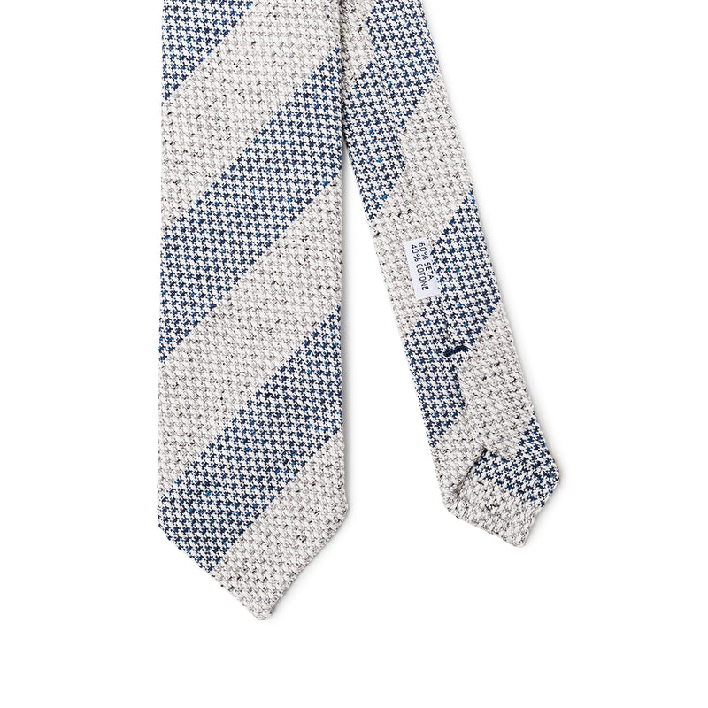 Striped Light Grey Blue Tie