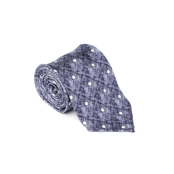 Dotted Blue White Tie