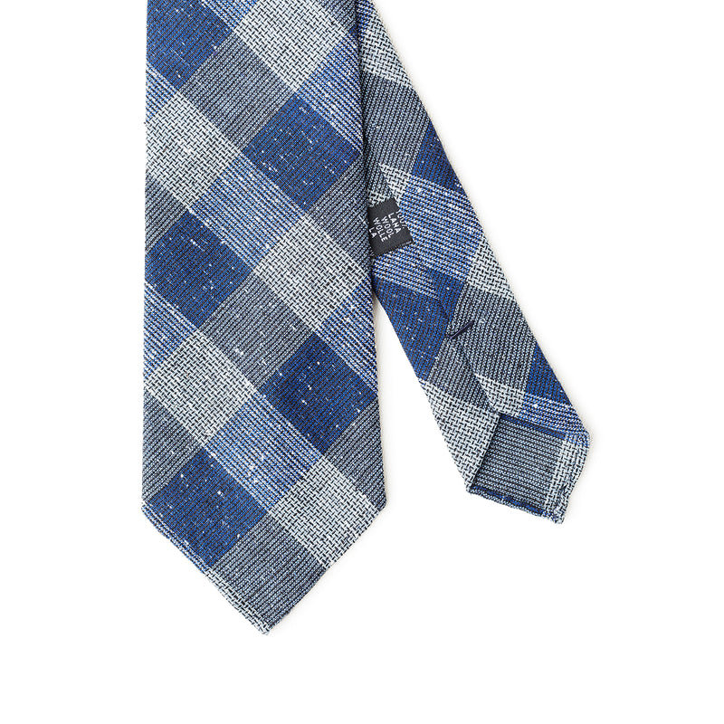 Checkered Blue Tie