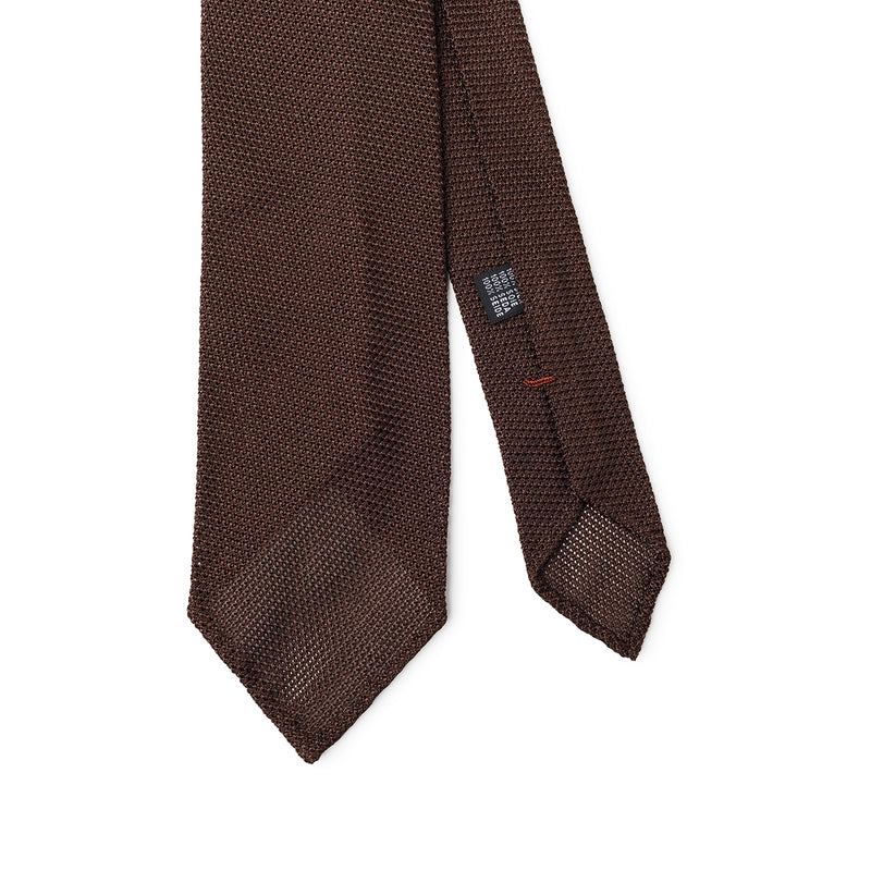 Textured Brown Tie