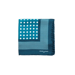 Dotted Green White Pocket Square