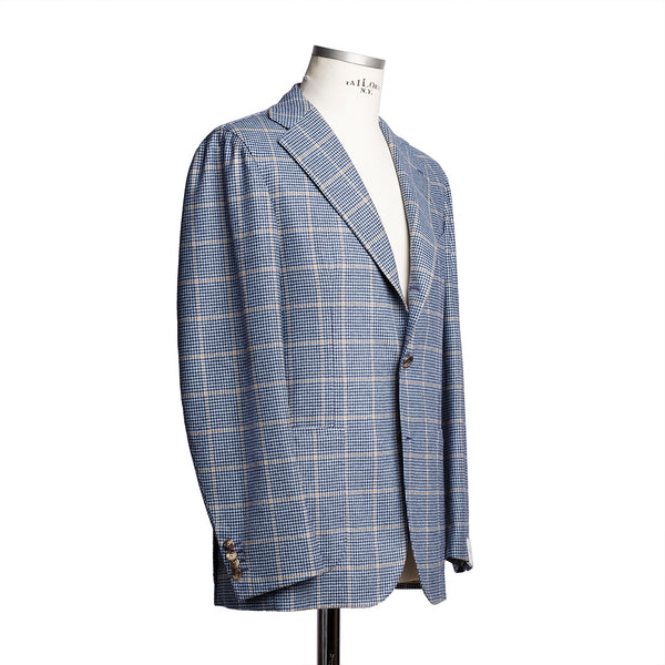 Light Blue Wool Cashmere Blazer
