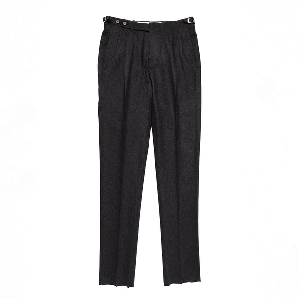 Dark Grey Flannel Trousers from Ariston