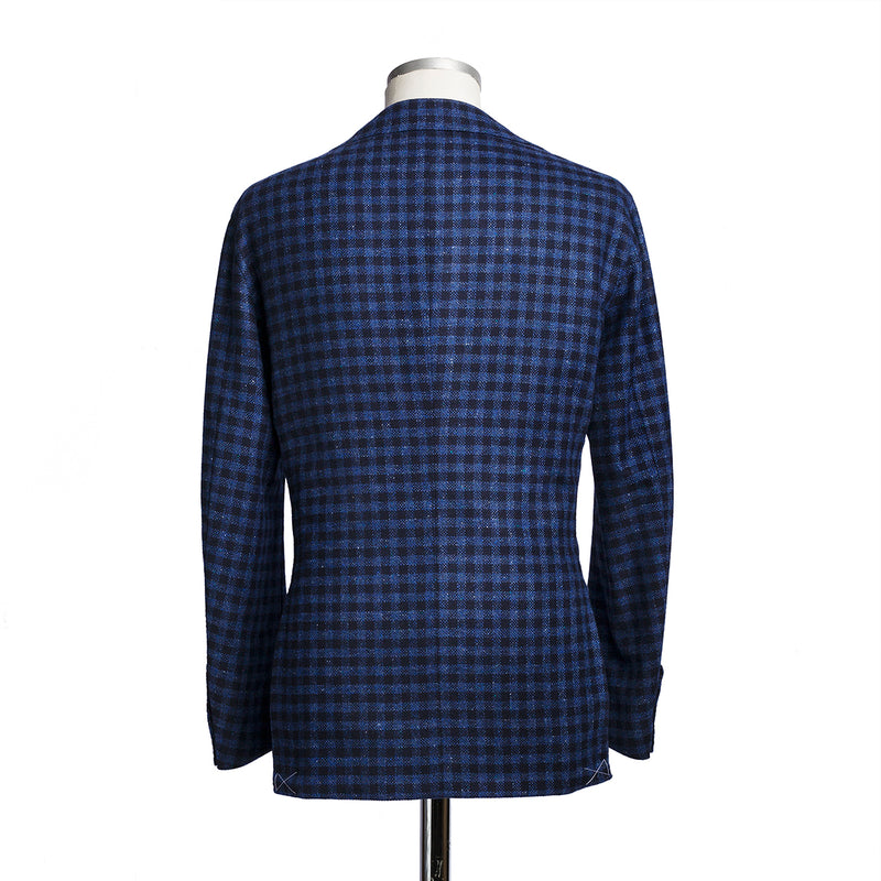 Checked Blue Wool & Cashmere Blazer