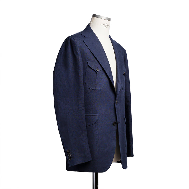 Sahariana jacket in navy W. Bill linen