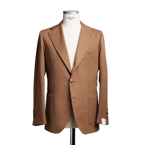Camel jacket in Solbiati wool