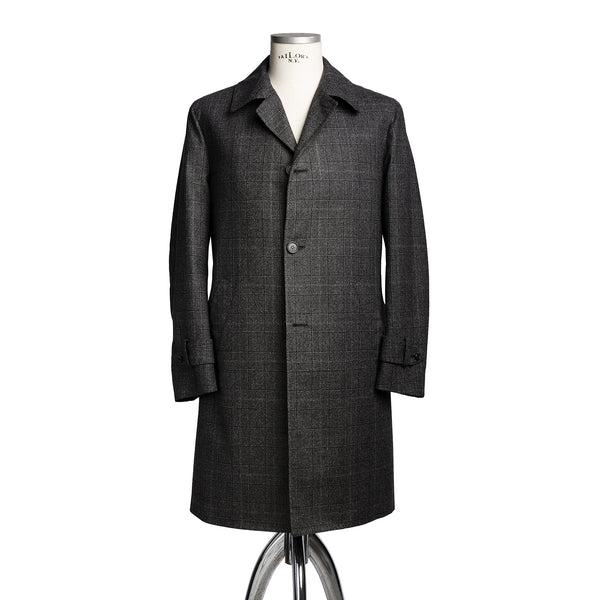 Dark Grey Wool Rain Coat