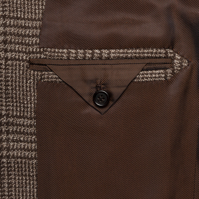 Checked Brown Wool Blazer from Loro Piana