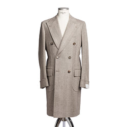 Beige Double Breasted Coat from Loro Piana