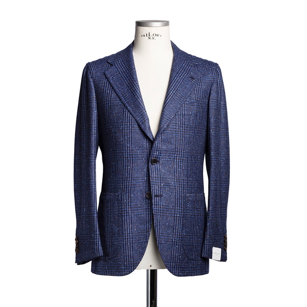 Blue Check Blazer in Loro Piana Wool