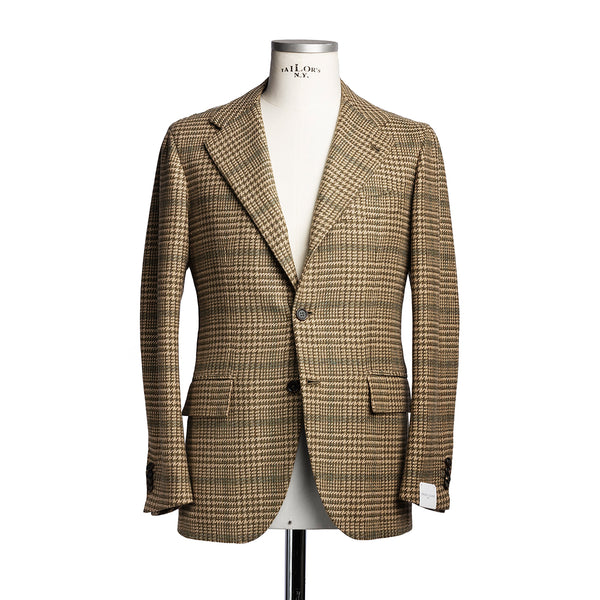 Green & Beige Wool Blazer from Fox Brothers