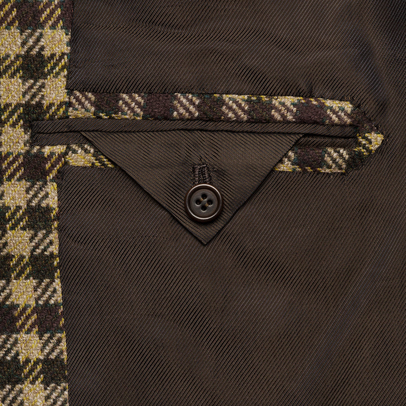Green & Brown Check Blazer from Fox Brothers