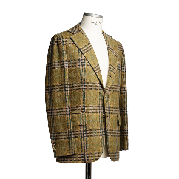 Green & Brown Blazer from Fox Brothers