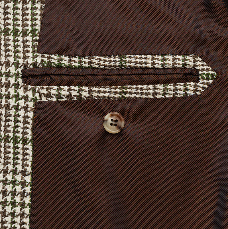 Cream & brown jakwet with green windowpane from Fox Brothers